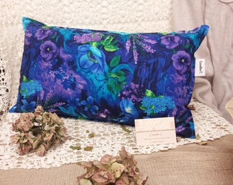 John C floral fabric pillow.
