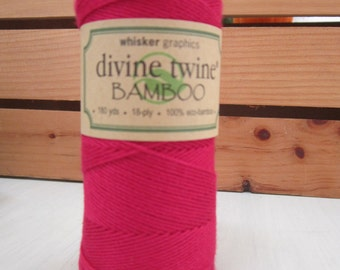 Bamboo Twine ~ Red ~ Eco-Friendly ~ 18 ply ~ 15 yards