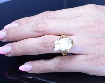 BIWA Pearl In 14kt Gold Ring