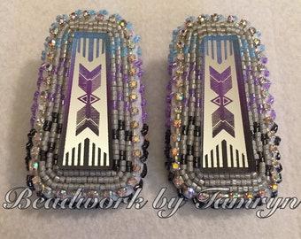 Beaded Earrings (Arrow Mirrors)