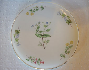 Royal Vale cake plate trivet wildflowers English china porcelain floral flowers