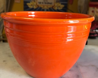 """Fiesta Mixing Bowl No. 3 Original Red 1936 to 1938 Got it at The Plastic Flamingo """"Lets Fiesta"""" I found it! Vintage Fiesta at it's FinestYES"""