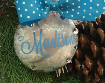 Gymnast Ornament, Gymnastics Ornament, Gymnast Split Leap Ornament, Personalized, Monogrammed