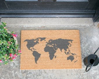 World map rug etsy world map grey doormat gumiabroncs Images