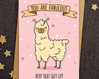 Funny Birthday Card - Best Friend Card - Funny Love Cards - Friend Birthday Card - Llama Card - Funny Friend Card - Card For Friend