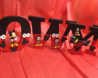 Mickey themed letters