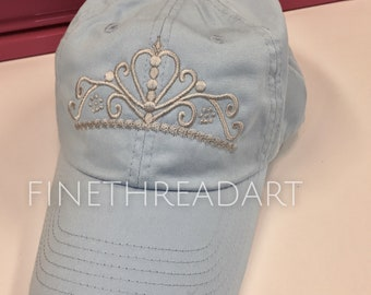 Ready to Ship Princess Tiara Crown Queen Adult Baseball Hat Cap Blue Princess Ladies Women