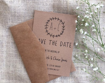Rustic Save the date card | rustic wedding invitations | country save the date invites | boho save the date | country wedding invitation