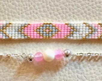 woven bracelet, beadwoven ornament