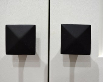 square black cabinet knobs. Door Knob,black Matte Cabinet Knob,knobs,contermporary Square Black Knobs A