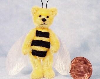 Baby Bee Bear - Miniature Teddy Bear Kit - Pattern - by Emily Farmer
