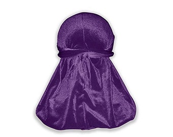 Purple Velvet Color Du-Rag -Premium Quality- Wave Cap-Durag