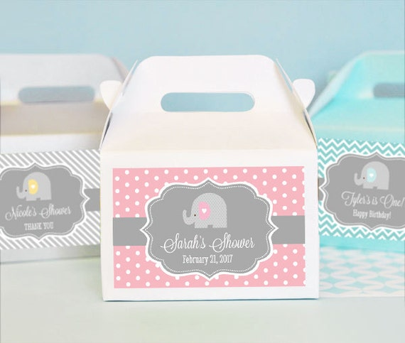Baby Shower Elephant Favors Elephant Baby Shower Favor Box