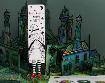 Wicked Witch babe. Wizard of Oz bookmark unusual gift for sister.