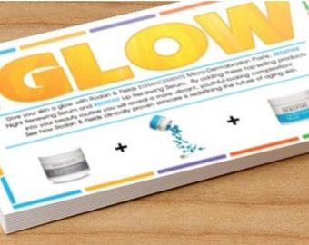 Rodan + Fields Give It A Glow Card PERSONALIZED DOWNLOAD