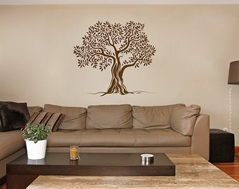 olive Tree Wall Decals olive Tree Decal olive Tree mural Vinyl Wall Decal Home Decor bedroom Decor kik347