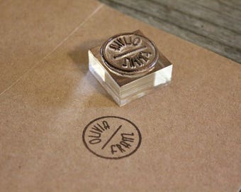 Custom Rubber Stamp - ( 1  x 1 inches)