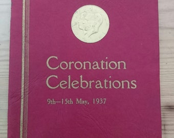 Vintage coronation booklet 1937