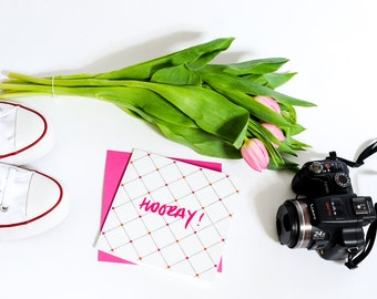 Hooray! - Luxury Congratulations Greetings Card - (Pearl of a Girl)