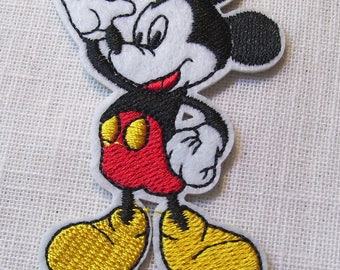 MICKEY mouse - Patch embroidered patch Thermo * 5 x 7.5 cm * Applique iron-on