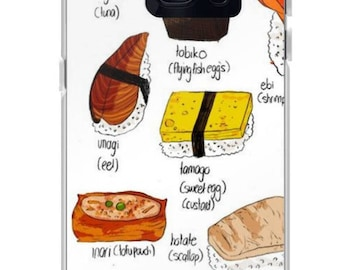 I Heart Sushi Phone Case for Apple iPhone and Samsung Galaxy
