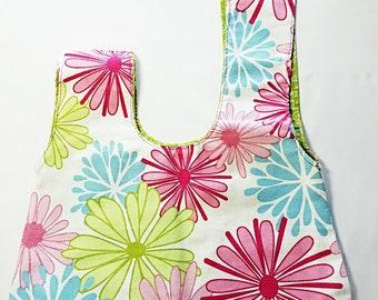 Green and Flowered Handbag