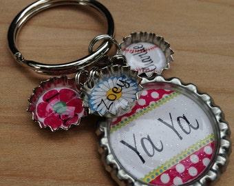Teacher Gift, Birthday gift, MOTHER'S GIFT, Grandmother gift, Bottle Cap Keychain - Teacher Gift, Mother Gift, Grandmother Gift