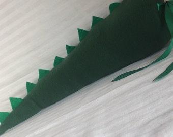 ADORABLE Handmade Fleece Dinosaur Tail - Dark Forest Green with Kelley Green Spikes - Dress Up