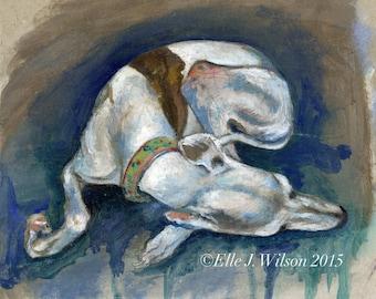 Whippet Art Dog Print