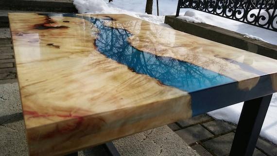 Beau Epoxy Resin Table