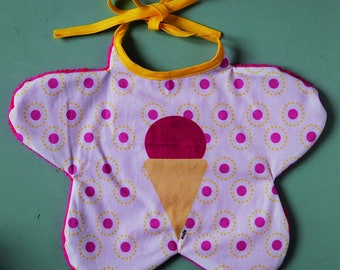 Raspberry ice baby bib