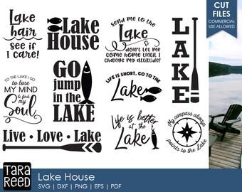 Lake House svg / Lake svg / Live Love Lake / Lake svg bundle /  svg files / svg for Cricut / svg for Silhouette / svg bundle
