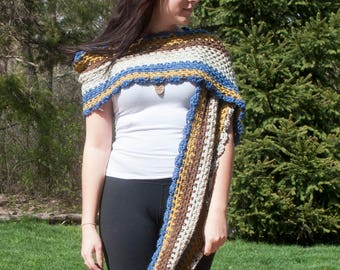 Tea Crochet Wrap, Shawl