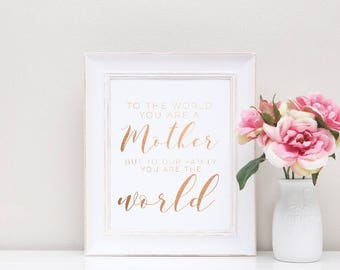 Mothers Day Foil Print quote - rose gold print