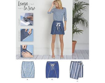 Simplicity Pattern D0635/8300 - Misses' Skirts with Front Variations - Learn To Sew Series - Simplicity Patterns