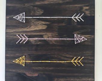Arrows - Handmade custom arrow string art