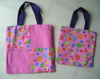 Easter Tote Bags - Set of Two - Great for Books, Travel - or Snacks