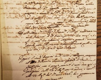 1754 Italian Contract for Medical Care for Sailors without Syphillis