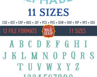 Fishtail Embroidery Font Alphabet Fishtail Machine Embroidery Design Files in Csd Dst Exp Hus Jef Pes Pcs Shv Sew Vp3 Vip Xxx formats.
