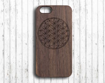 Flower of life  iphone 6 case iphone 7 plus case wood  iphone 6s wood case wood  iphone 6s plus case  iphone 6 case bamboo