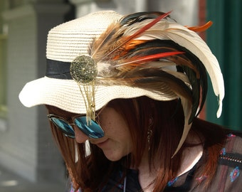 Feathered Festival Hat