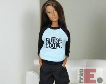 """Doll T-shirt """"Pure Doll"""" - hellblau"""