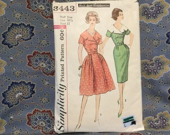 Simplicity dress pattern size 16 1/2