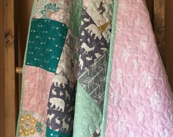 Woodland Baby Girl Quilt