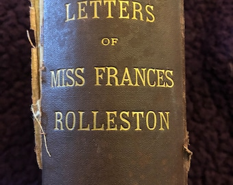 Letters By Miss Francis Rolleston