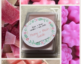 Peony & Blush Soy wax melts , Natural wax , Highly scented , Uk, Wax Tart, Soy Wax,