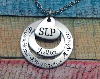 Speech Therapy Gift, Speech Therapist Jewelry, SLP Gift, SLPA Gift, Speech Therapist Graduation Gift, Speech Language Pathologist Gift