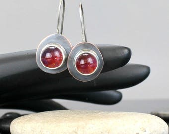 Hippie Rose Earrings - Lampwork Glass - Metal - Handcrafted - One of a Kind