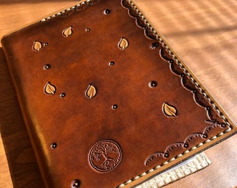 Leather journal cover, composition notebook cover