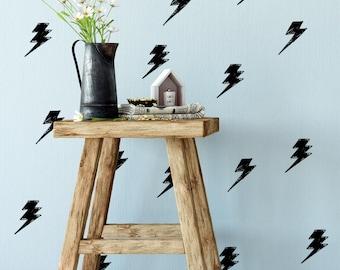 lightning bolt decal, lightning bolt decor, lightning bolt decoration, lightning bolt wall, Thunder Decals, Thunder Wall Art, Lightning Set